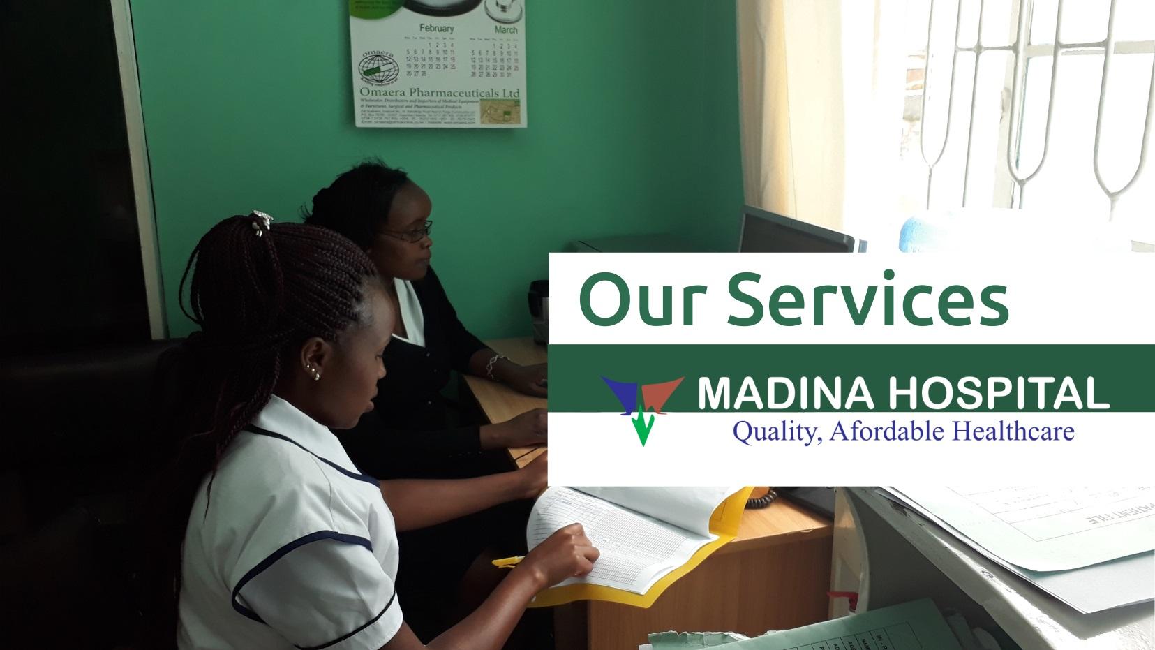 madina hospital - services header